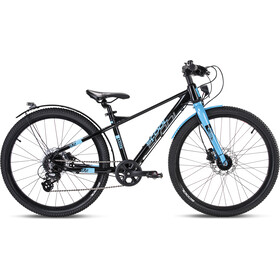 s'cool XXlite EVO Disc 24 8-S Kinderen, black/cyan matt
